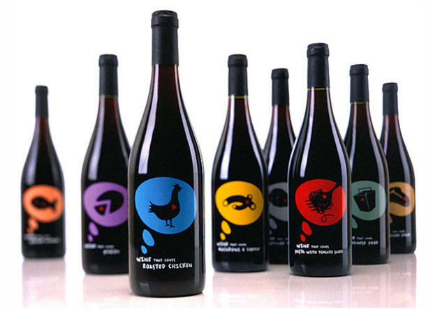 The Amazing Food Wine Company Wine Labels