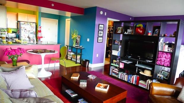 Viva la femme apartamento super colorido follow the for Apartamento de decoracion interior