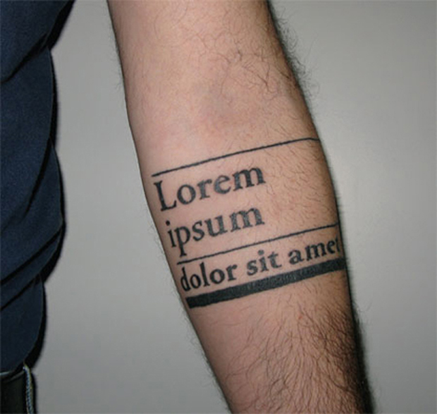 ftc60 #tattoofriday   Type Tattoo