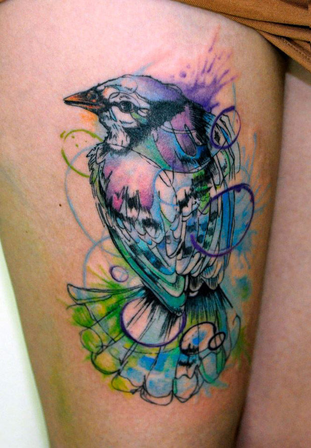181068 10150971440467351 949212666 n #tattoofriday   Watercolor Tattoos / Koray Karagözler