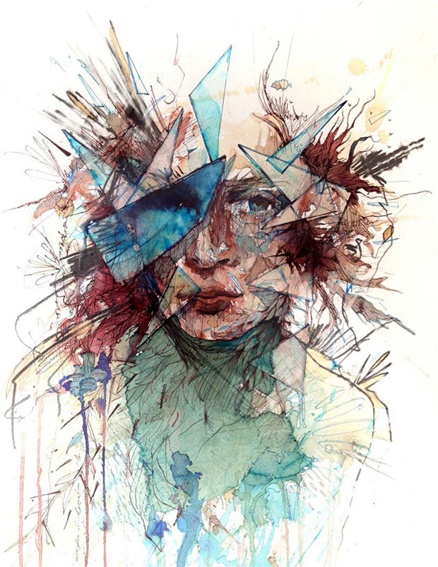 carne 1 Retratos com Chá, Vodka, Whisky e Tinta   Carne Griffiths