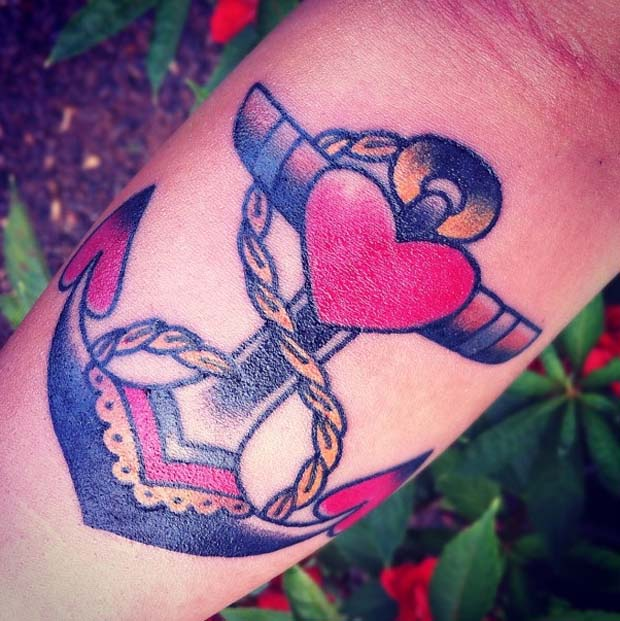 follow12 #tattoofriday   Anchor/Âncora tattoos