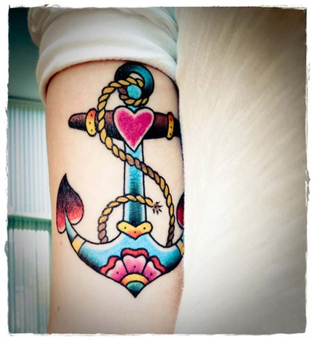 follow21 #tattoofriday   Anchor/Âncora tattoos
