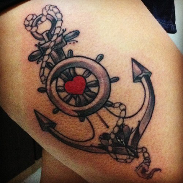 follow43 #tattoofriday   Anchor/Âncora tattoos