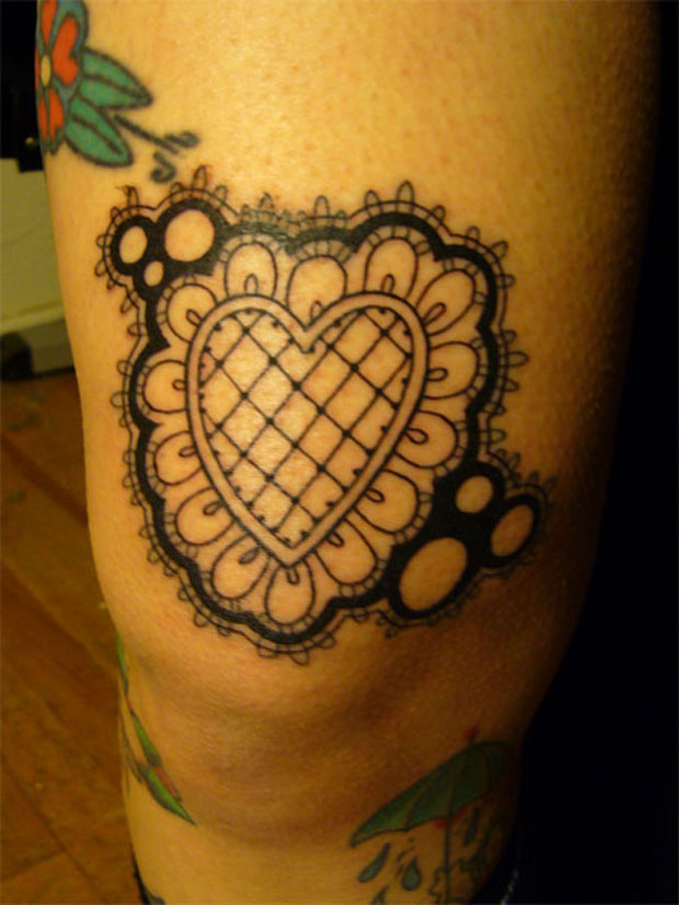 Kukula Lace Heart Tattoo #tattoofriday   Lace Tattoo/Renda