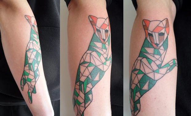 113575221822230507 pAdpcR27 c #tattoofriday   Origami Tattoos