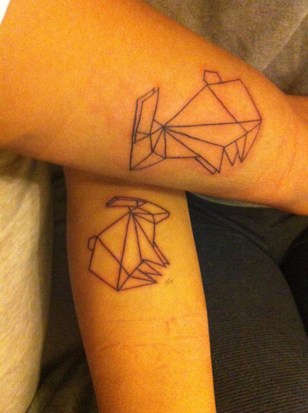 188095721907878628 T82mglnc c #tattoofriday   Origami Tattoos