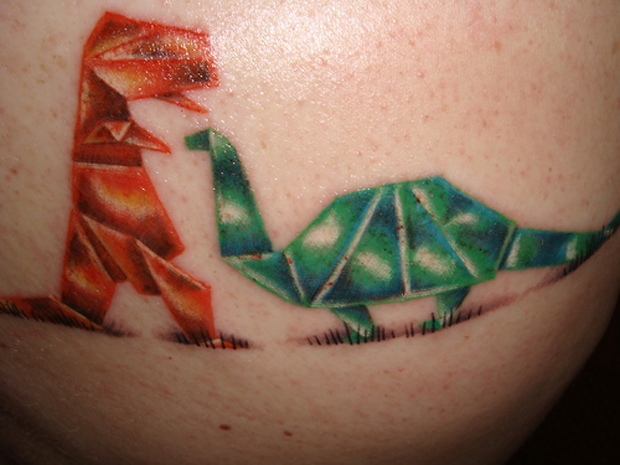 tumblr kxla0sqId81qzabkfo1 500 large #tattoofriday   Origami Tattoos