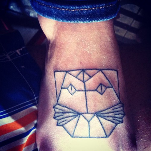 tumblr m7yy3xfKmz1qzabkfo1 500 #tattoofriday   Origami Tattoos