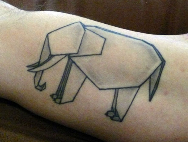 tumblr mb8nfuYtlz1qffb67o1 500 #tattoofriday   Origami Tattoos