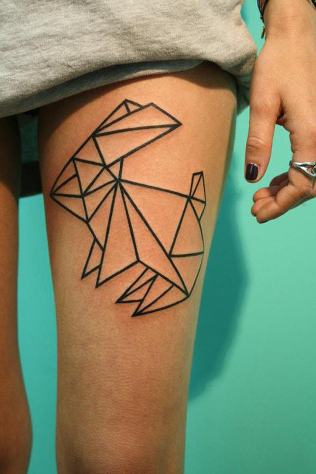 tumblr metwe8n97t1rbc5v3o1 1280 large #tattoofriday   Origami Tattoos
