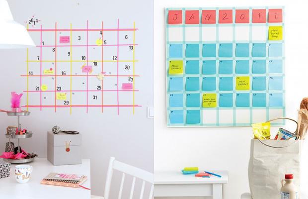 Resultado de imagem para home office tumblr calendario