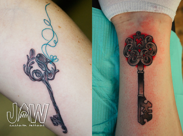 key tattoo followthecolours 01 #tattoofriday   Key Tattoos/Chave