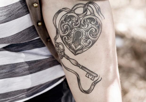 30 Fancy Lock and Key Tattoos CreativeFan.