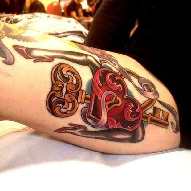 key tattoo followthecolours 25 #tattoofriday   Key Tattoos/Chave