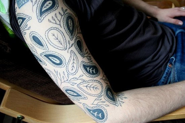 followthecolours leaf tattoo 06 #tattoofriday   Folhas/Leaf Tattoos