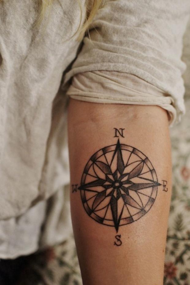 Para inspirar tatuagens de b ssola follow the colours for Tatoo bussola