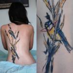 Sven Groenewald mistura cores, formas abstratas e efeito de sketch na pele para criar lindas tatuagens