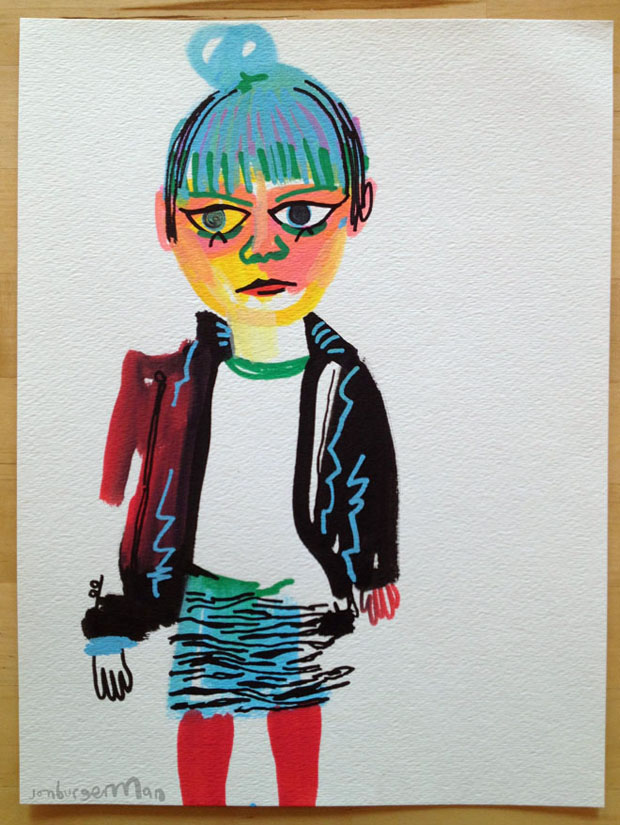 Garotas Que Tem Blog No Tumblr Viram Desenhos Nas M&227os Do Ilustrador