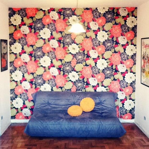 Fa a voc mesmo parede de tecido follow the colours - Papel para forrar paredes ...