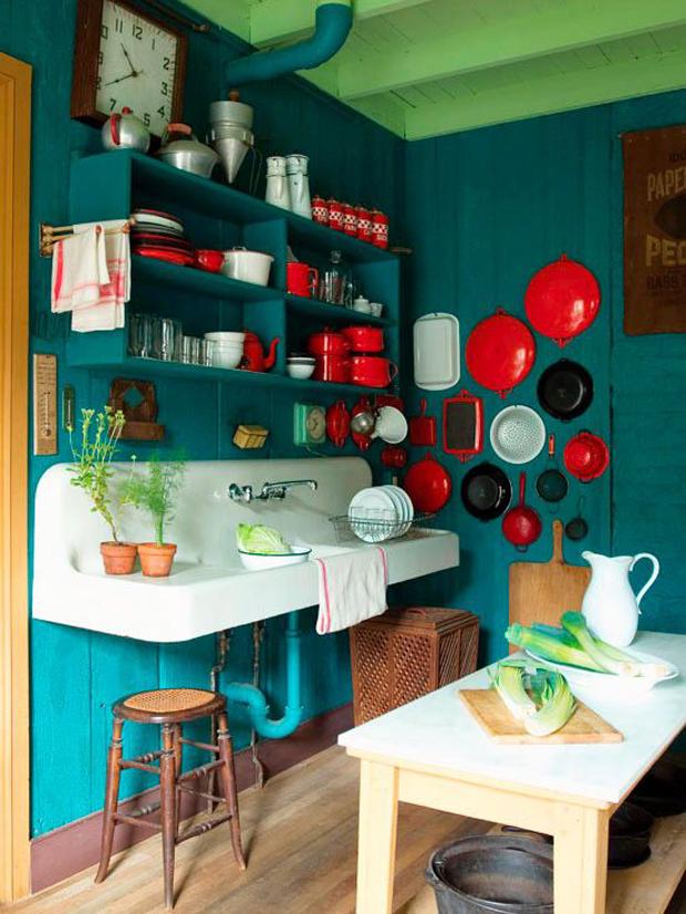 Para inspirar cozinhas coloridas mais cor por favor for Deco cuisine coloree
