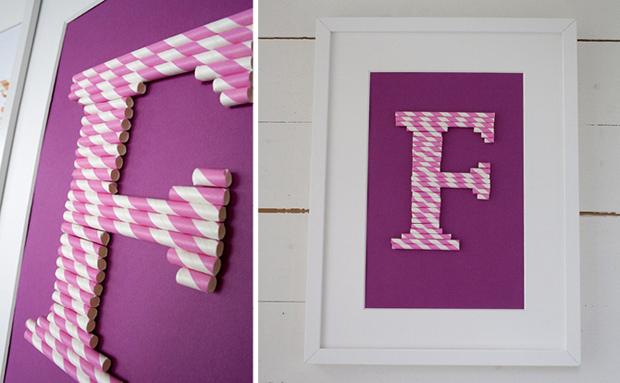 decoracao cozinha diy:Para um chá de bebê ou de cozinha, vale fazer quadros com iniciais