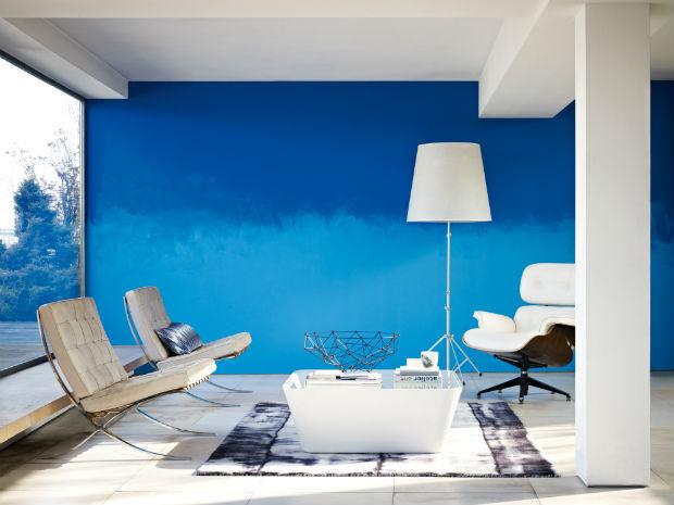 Paredes com efeitos voc mesmo pode fazer follow the - Photo peinture salon 2 couleurs ...