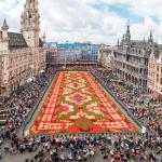Tapete de flores embeleza a Grand Place de Bruxelas, na Bélgica