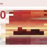 Novas notas de dinheiro na Noruega (Kroner) são coloridas e pixelizadas