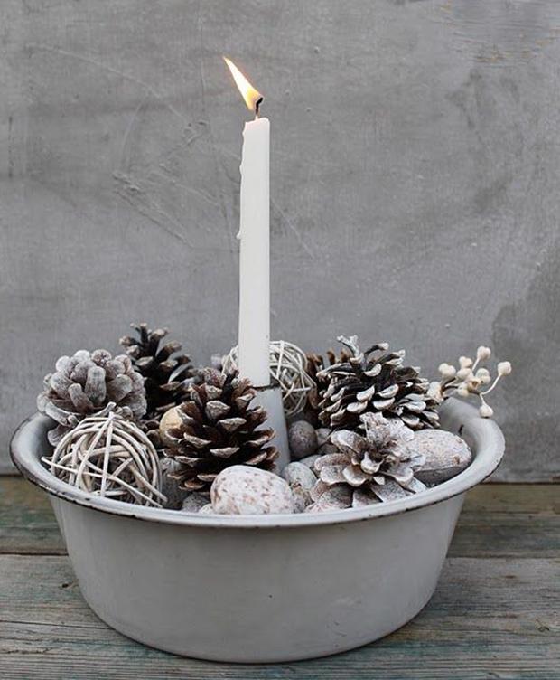 decoração diy natal pinha