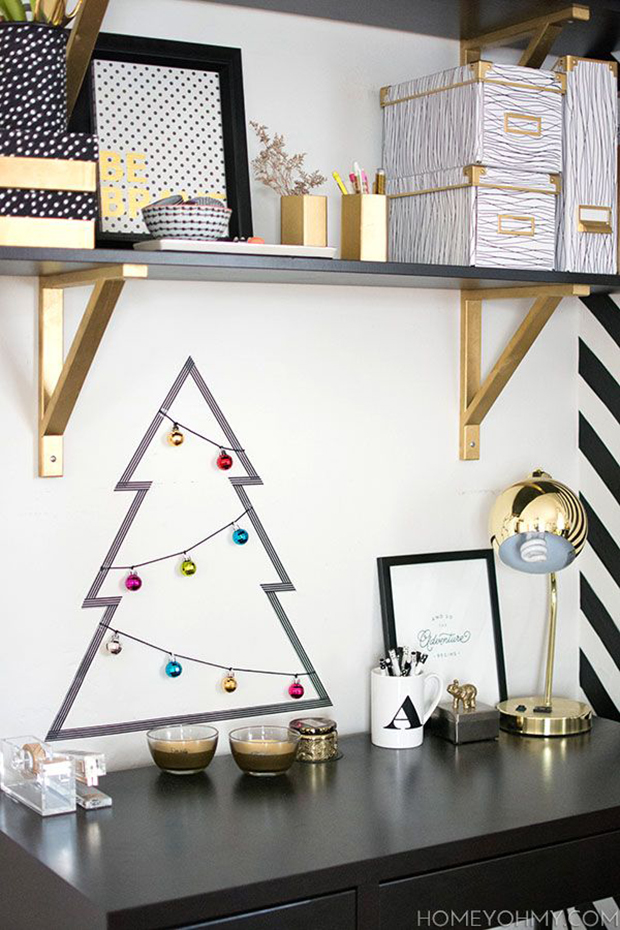 decorao diy natal washi tape rvore