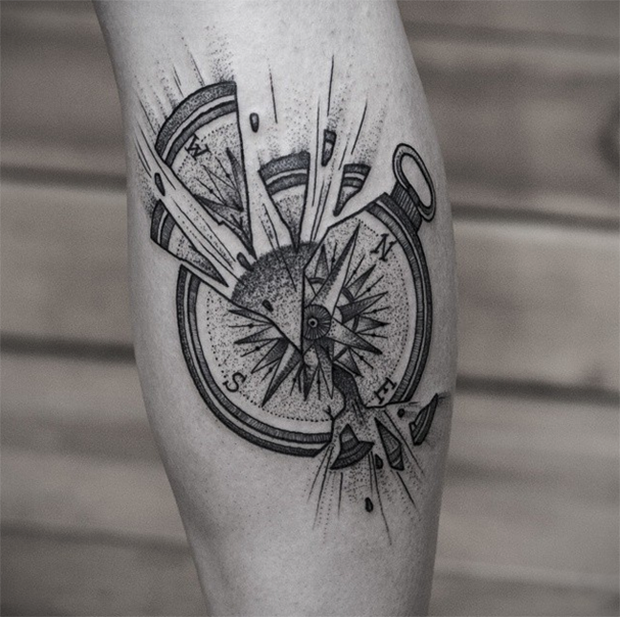 11 tatuadores brasileiros experts em pontilhismo follow for Tatoo bussola