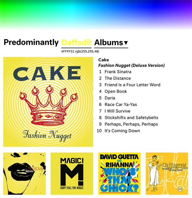 follow the colours música cor Predominant.ly 08