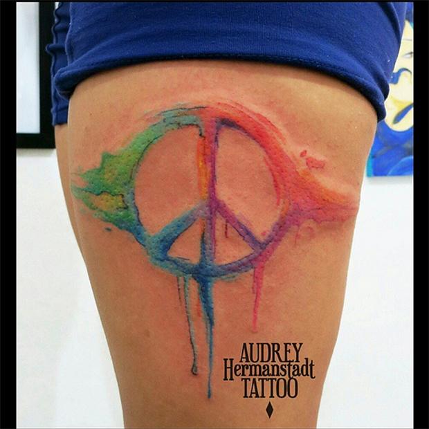 tattoo aquarela Audrey Hermanstadt paz