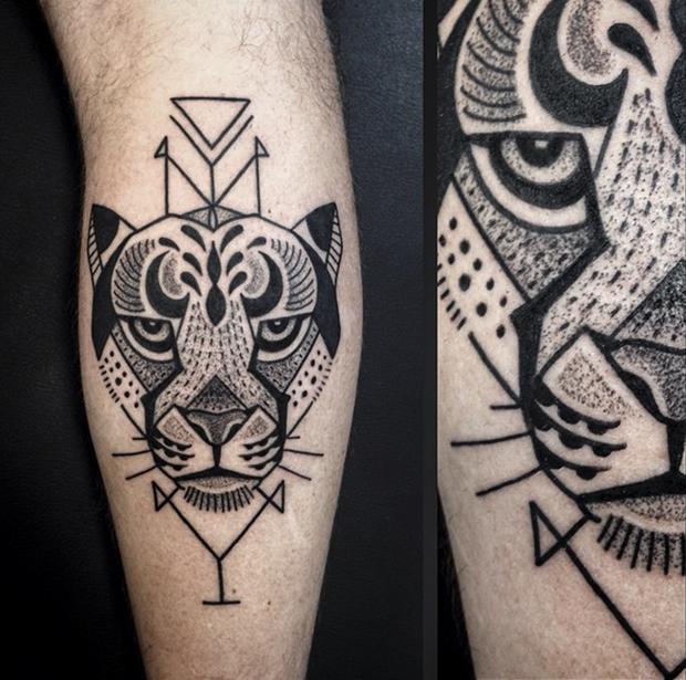 Tattoo Junnio Nunes tigre
