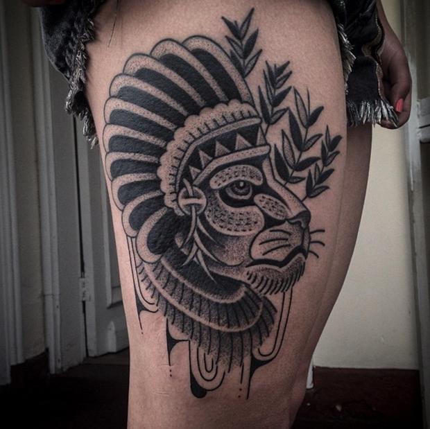 Tattoo Junnio Nunes leão