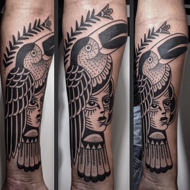 Tattoo Junnio Nunes tucano