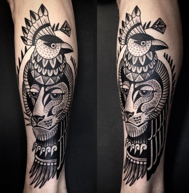 Tattoo Junnio Nunes pássaro 02