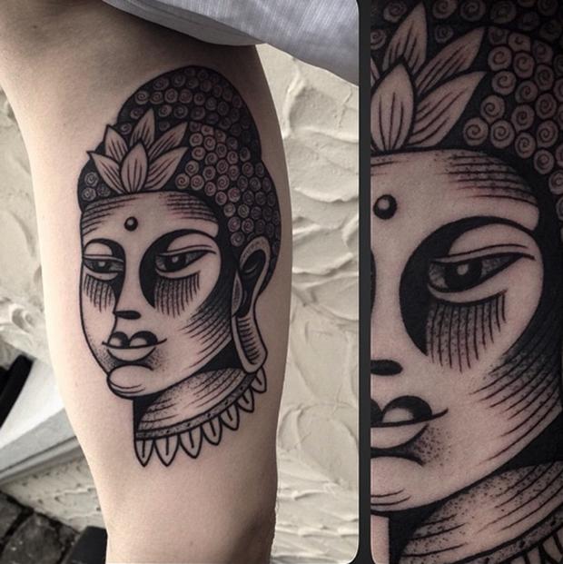 Tattoo Junnio Nunes buddha
