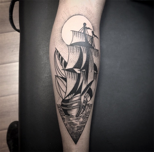Tattoo Junnio Nunes navio