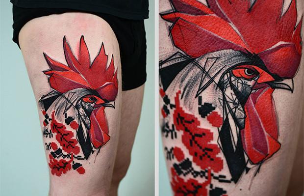 follow the colours tattoo friday Timur Lysenko galo