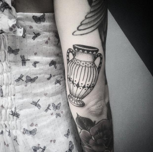 hand poked tattoo Trigs Covil  jarra