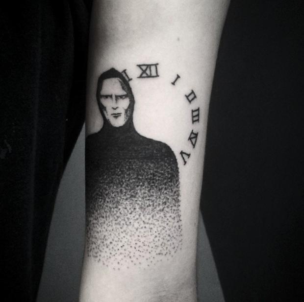 hand poked tattoo Trigs Covil  morte