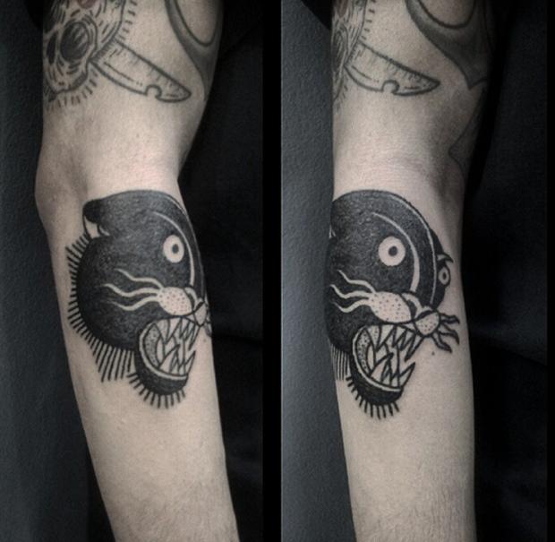 hand poked tattoo Trigs Covil  tigre