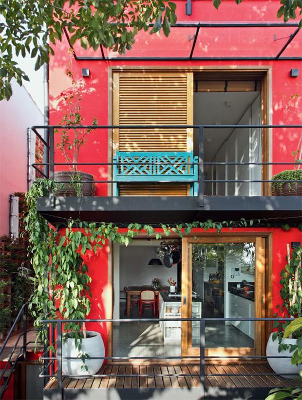 vermelho decoração fachada