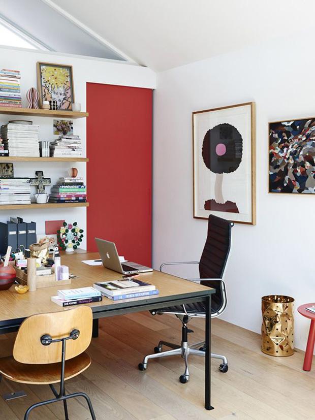vermelho decoração porta