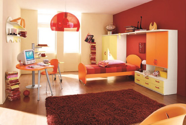 vermelho decoração quarto adolescente