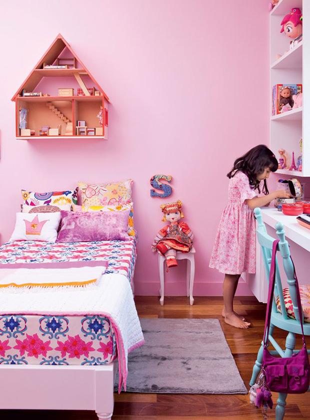 vermelho rosa decoração quarto criança