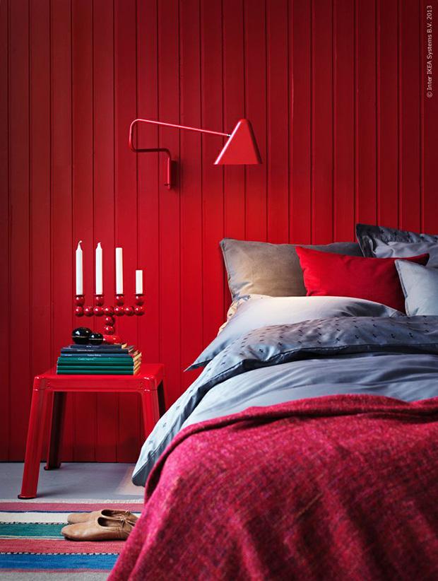 vermelho decoração quarto casal