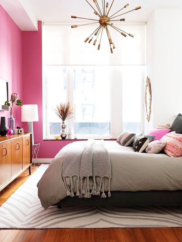 vermelho magenta decoração quarto